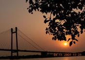Vidyasagar Setu (Second Howrah Bridge ) by Vishaka.  Tags: Howrah, West Bengal, Kolkata, Howrah Bridge, Landscapes, vidyasagar setu.