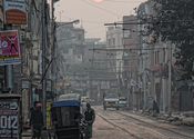 Kolkata Sunrise by abracax.  Tags: Kolkata, West Bengal, City Life, Sunrises.