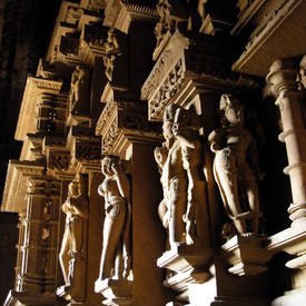 Lakshmana Temple - Wall of the inner sanctum: Lakshmana Temple - Wall of the inner sanctum