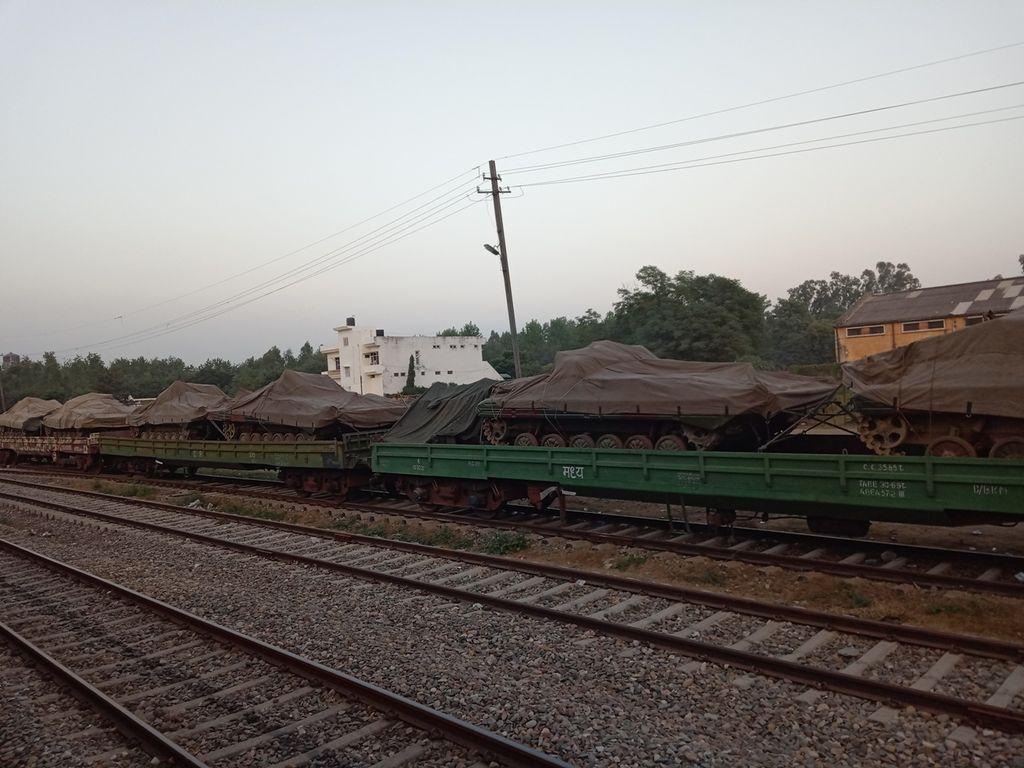 Tanks on rail at Gurdaspur station