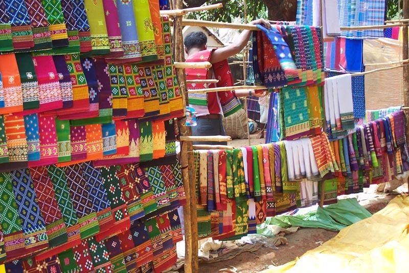 Market sari stallIndian Market Stall