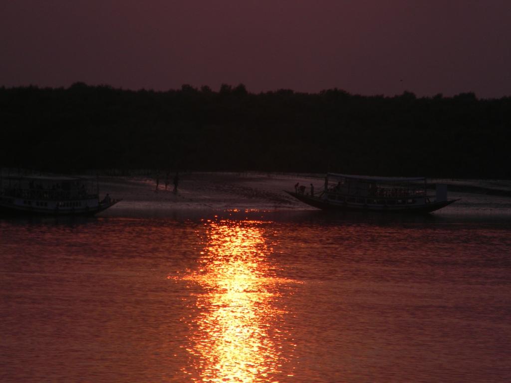 Sunset in Sundarban