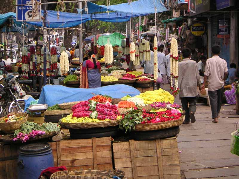 Flower Sales at Bangalore