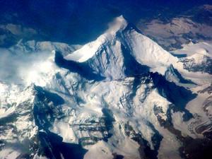High above the Himalaya Range