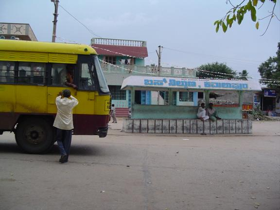 Bus station in Hampi India