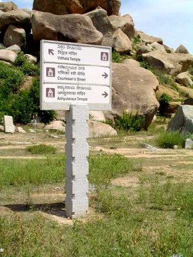 Sign Posts in Hampi India