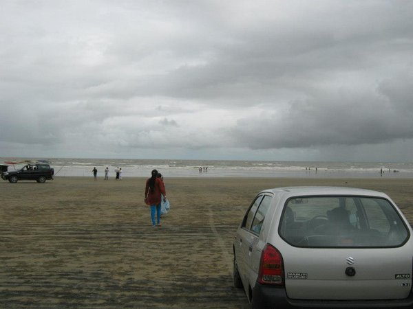 Name:  Car driving at Udaypur Beach.jpg