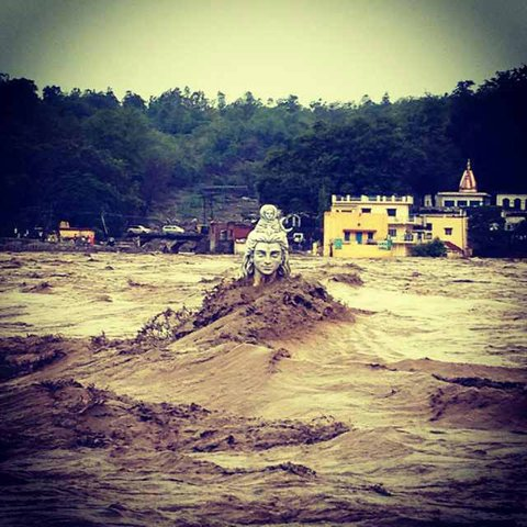 Massive Flooding in Uttarakhand  June 2013Uttarakhand Shiva Statue Now