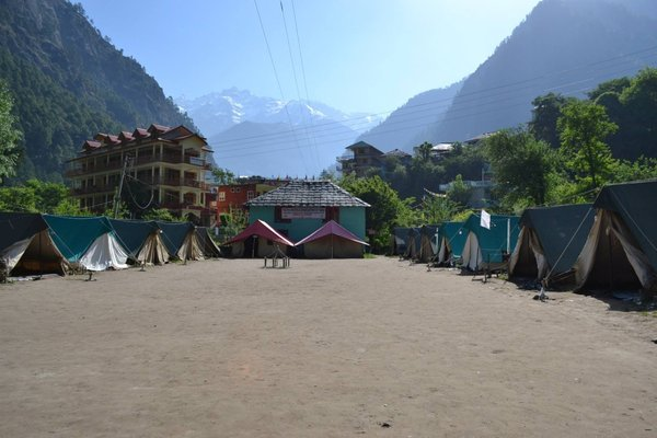 Name:  Early morning calm at the base camp.jpg