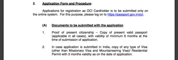 Can You Travel To India On A Oci Card