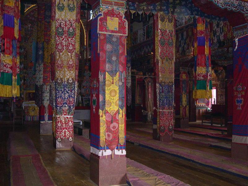 Tawang, beautiful silk on coloumns.jpg